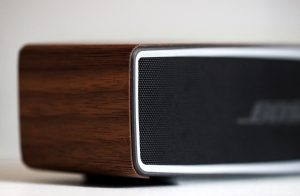 wooden finish bluetooth speakers